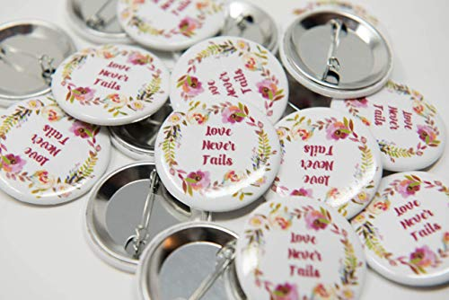 (ENGLISH - 200 Lapel Buttons Pins - Love Never Fails International Convention of Jehovah's Witnesses 2019, Jw gifts, Jw shop, souvenirs, assembly gifts)