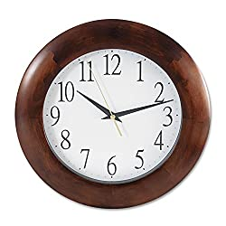 Universal 10414 Round Wood Clock, 12 3/4, Cherry
