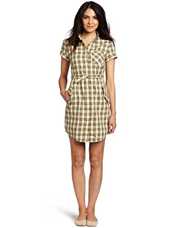 Fred Perry Women's Summer Check Button Down Dress, Sweetcorn, 4US/8UK