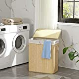 SONGMICS Bamboo Laundry Hamper with