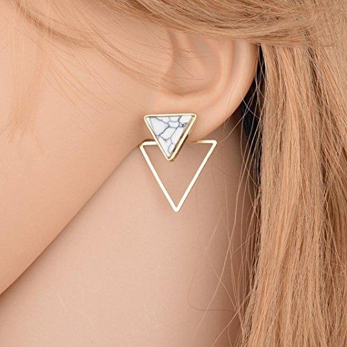 Round Hoop Classic Earrings - Clearance! Elogoog Long Geometric Dangle Earrings Women's Fashion Jewelry 2018 Marble Round Big Hoop Earrings (B)