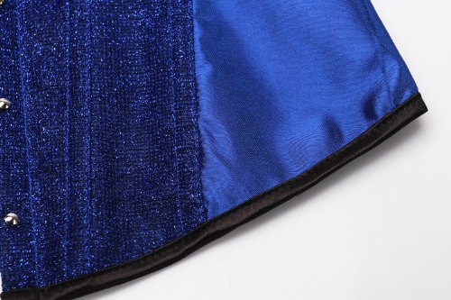 Sexy Jacquard Banda Blu shine Del Corsetto Co Della E string Femminile Disossato Con G E6wqxH40x