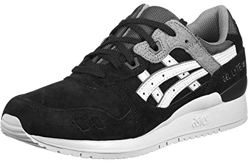 Mens Trainers Running Shoes Black 5 5 ASICS Leather Lyte Gel III TRUYt