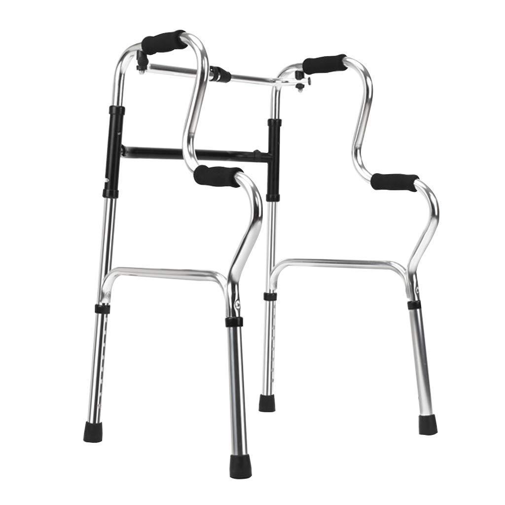 ダブルカーブウォーカー、オールドマン四足歩行フレームアルミ合金折りたたみ障害杖スポーツトレーニングサポート   B07L8CND4F