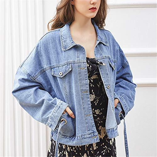 Azzurro Maniche Lunghe Donna Godgets Giacca Casual Capptto Jeans Di Slim Fit Zx61vw1Ufn
