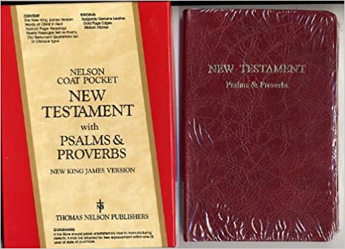 NKJV New Testament with Psalms and Proverbs (Burgundy