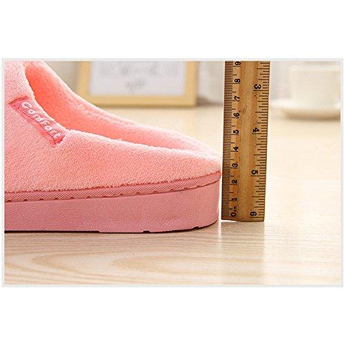 Peluche Chaussures Pantoufles Fuyingda Confortable Chaussons Hommes Rose Fourrure Femmes et Chaud Femmes Hiver Coton aqPrntPI