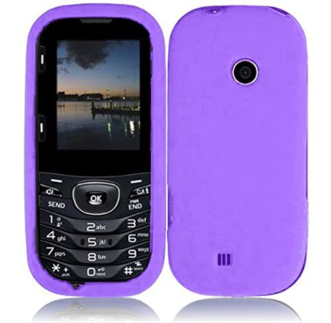 For LG Cosmos 3 VN251S Cosmos 2 VN251 Rubberized Hard Cover Case Dark Purple Accessory (Cell Phone Cases Lg Cosmos 3)