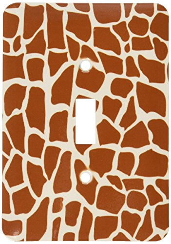 3dRose lsp_155617_1 Giraffe Skin Graphic Animal Print Pattern - Brown And Yellow - African Safari - Modern Stylish - Single Toggle Switch