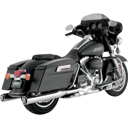Vance & Hines Monster Rounds Slip Ons Chrome 16773 (Exhaust Tips Vance Hines)