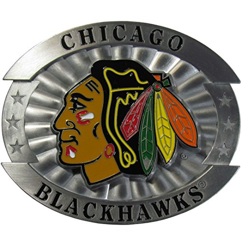 Metal Licensed Belt Buckle (NHL Chicago Blackhawks Oversized Belt)