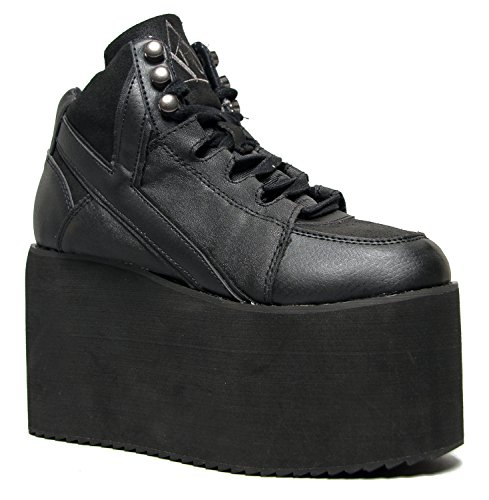 Y.R.U. Shoes QOZMO Lace Up High Flatform Platform Sneaker