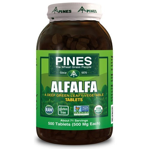 Pines International Alfalfa - Organic - Tablets - 500 Tablets by Pines International