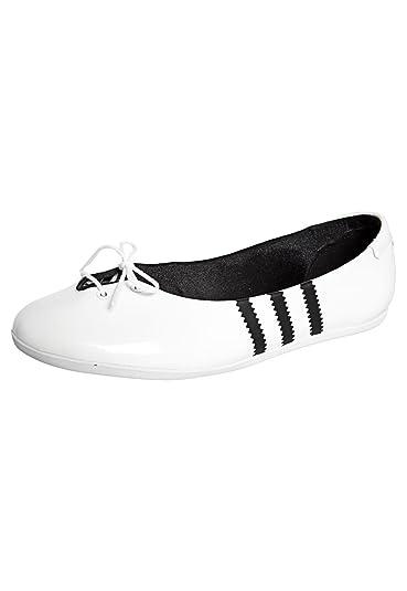 0e38700afeb Adidas Originals Sapatilha Adi Ballerina Womens Flats White G96315 ...