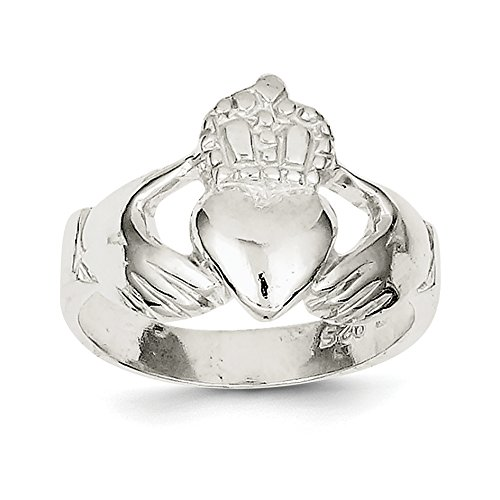 ICE CARATS 925 Sterling Silver Irish Claddagh Celtic Knot Band Ring Size 8.00 Fine Jewelry Gift Set For Women Heart