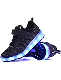 Great Gift,LED Light up Shoes Kids Girls Boys Breathable...
