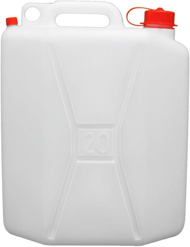 WOLFPACK LINEA PROFESIONAL 5085530 Bidon Garrafa Plastico Alimentario 20 litros, Blanco