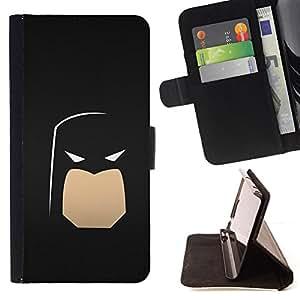 BullDog Case - FOR/HTC Desire 820 / - / Minimalist Bat Superhero /- Monedero de cuero de la PU Llevar cubierta de la caja con el ID Credit Card Slots Flip funda de cuer
