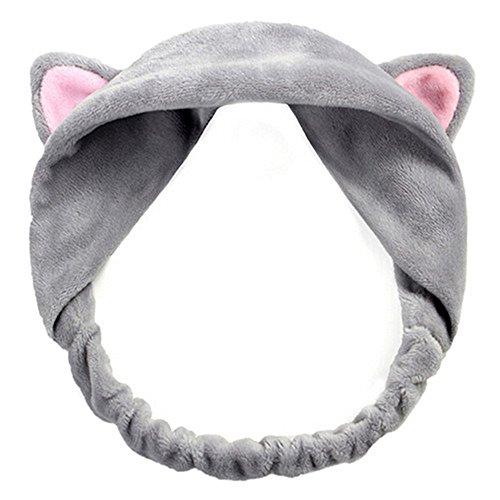 Cute Cat Ears Headband Hair Wear Makeup Shower Face Washing Hairband