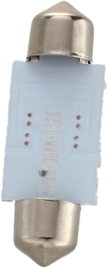 WOVELOT 2 White Dome 16 LED 3528 SMD Interior Bulb Light 36mm
