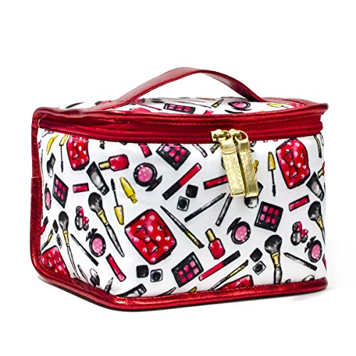(LONDON SOHO NEW YORK Disney Collection Minnie Mouse Cosmetic Train Case, Minnie's)
