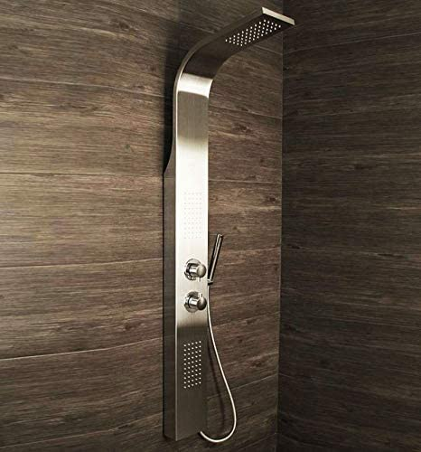 Shower Panel Column Tower w/Body Jets + Waterfall Bathroom Shower