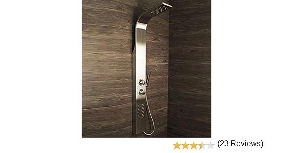 Columna de ducha con chorros para el cuerpo, válvula termostática ...