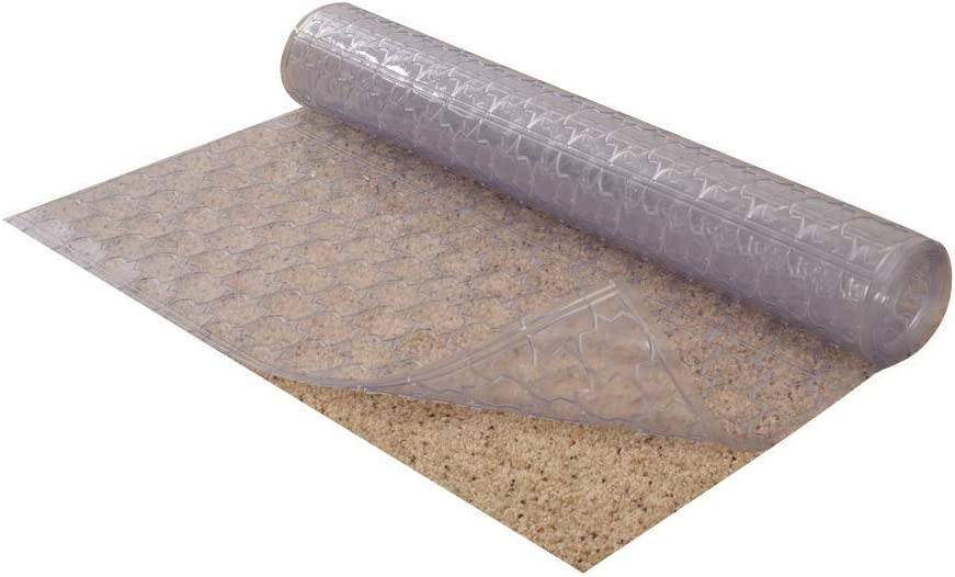 Resilia Premium Heavy Duty Floor Runner/Protector for Carpet Floors – Non-Skid, Clear, Plastic Vinyl, Clear Mosaic, 27 Inches x 25 Feet
