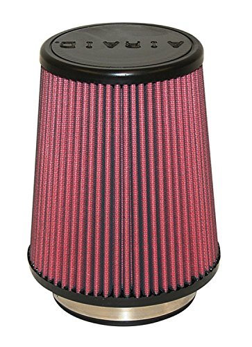 Airaid 700-458 Universal Clamp-On Air Filter: Round Tapered; 4 in (102 mm) Flange ID; 7 in (178 mm) Height; 7 in (178 mm) Base; 4.625 in (117 mm) Top