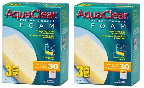 Aquaclear Foam Inserts, 3-Pack (6-Pack, 30-Gallon) ()