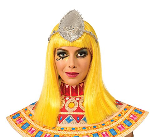 Adult size Katy Perry Dark Horse Costume Wig - Bright Yellow with Bangs