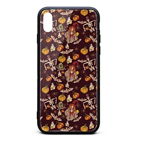 (Yuwerw fgqq Halloween Day of The Dead Skeletons Makeup Cool Unique Waterproof Cell Phone Cases for iPhone X Protective Phone Cases Mobile Shell Case Cover iPhone)