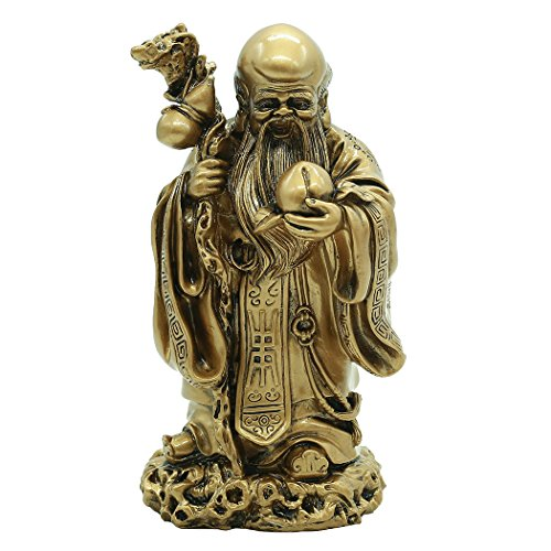 Chinese Folk Handcraft Resin God Of Longevity Sculpture Bless Health and Longevity Gift BS191
