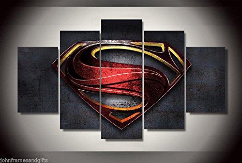 Superman badge Canvas Print decor in 5 ()