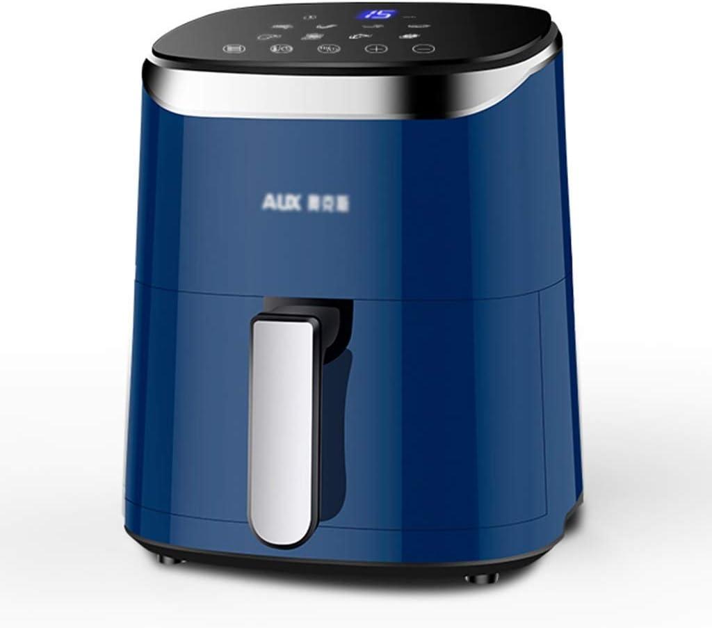 Horno de aire eléctrico para el hogar Multifunción No hay aire de gran capacidad completamente automática (Color: Azul, Tamaño: 24 * 24 * 31 cm) WTZ012 (Color : Blue, Size : 24 * 24 * 31cm)