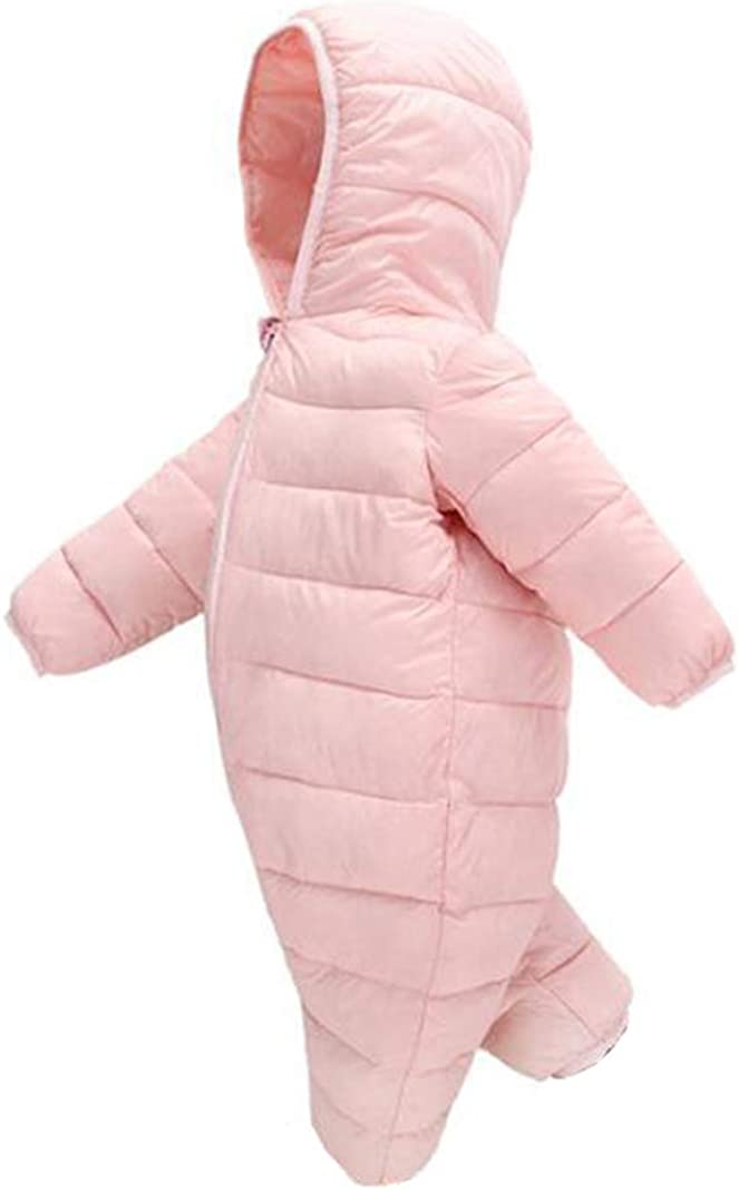 TAIYCYXGAN Baby Girls Boys Winter Snowsuit Down Jacket Zipper Hooded Puffer Onesie Romper Warm Outwear Bodysuit