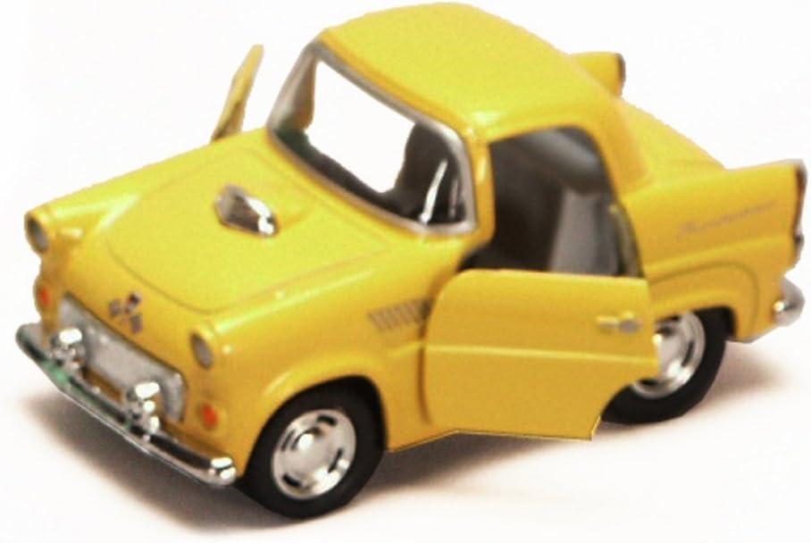 Yellow Brand New, but NO BOX 4 Diecast Model Toy Car Kinsmart 4022D 1955 Ford Thunderbird
