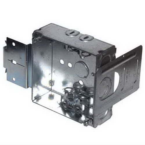 Crouse-Hinds TP404MSB Steel Outlet Box 4 Inch x 4 Inch x 1-1/2 Inch 22 Cubic-Inch by Crouse-Hinds (Image #2)