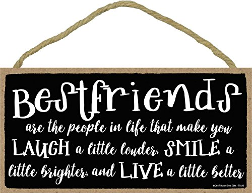 People That Make You Laugh Smile and Live Better - 5 x 10 inch Hanging, Wall Art, Decorative Wood Sign Home Decor ()