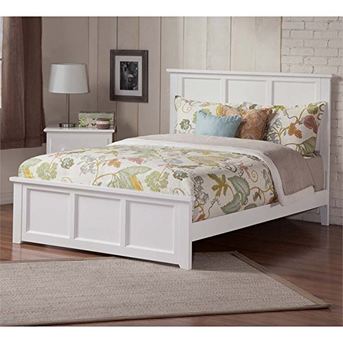 - Leo & Lacey Queen Panel Platform Bed in White