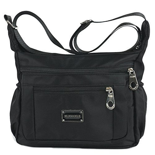 New Womens Bag (Crossbody Bags for Women Water Resistant Lightweight Nylon With Shoulder Bags (black))