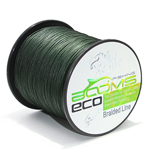 Booms Fishing ECO 100% UHMWPE Braided Fishing Line 300 Yard Green 20 Lb 1ALSTGN30020