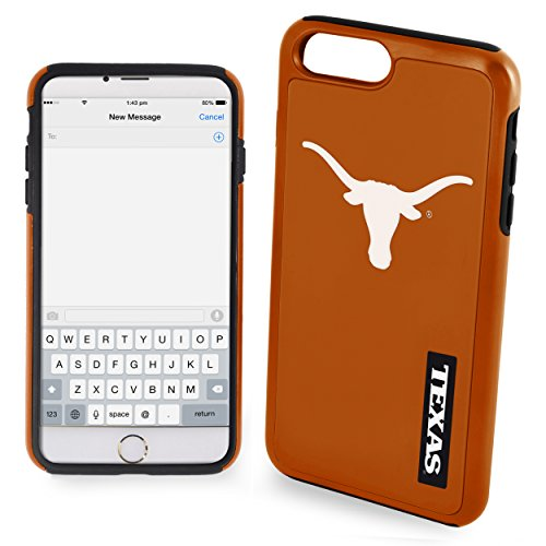 (Texas Longhorns Impact TPU 2-Piece Dual Hybrid iPhone 8 PLUS / iPhone 7 PLUS / iPhone 6 PLUS / 6s PLUS - 5.5