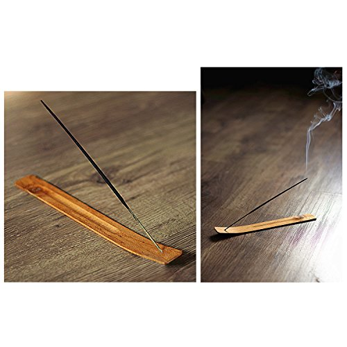 TrendBox 30pcs Handmade Plain Wood Wooden Incense Stick Holder Burner Ash Catcher Natural Design Buddhist by TrendBox (Image #2)