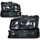 Chevy Silverado 1500 Direct Replacement Head Lights + Bumper Signal Lamps Smoke