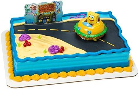 Magnificent Amazon Com Spongebob Birthday Cake Kit Kitchen Dining Funny Birthday Cards Online Alyptdamsfinfo