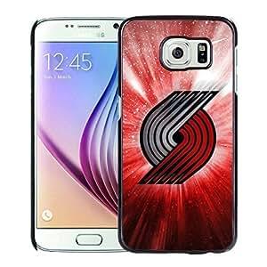 New Custom Design Cover Case For Samsung Galaxy S6 portland trail blazers 4 Black Phone Case