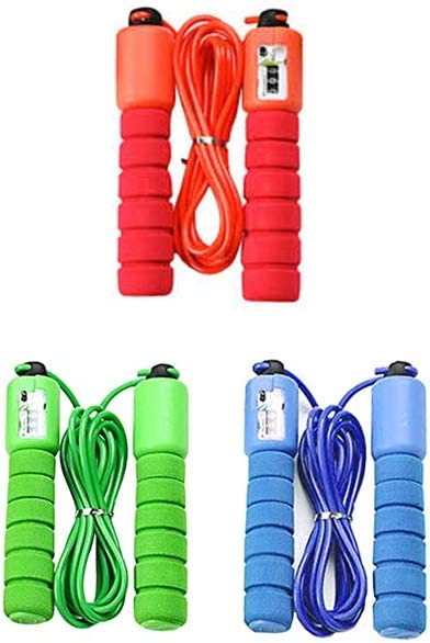 Bahob/® Jump Rope Skipping Rope For Kids with Digital Counter Soft Sponge handle non-slip,Children Exercise Jumping Game Fitness Activity Random Color