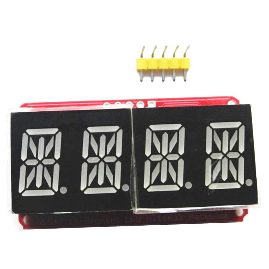 4 Blocks 4 Bits 0.54Inch Screen Red and Orange Display perfk 6pcs 14 Segments LED Display Module Tube