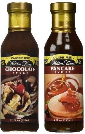 Walden Farms Calorie Free Bundle: Chocolate Syrup and Pancake Syrup 12oz